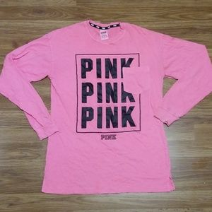 XS vs pink long sleeve